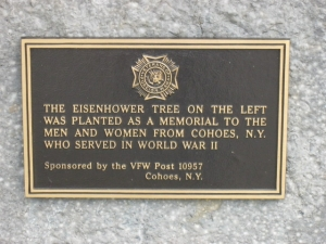 Inscription at Cohoes WWII Memorial