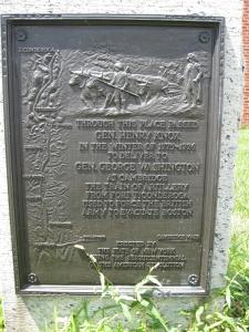 Revolutionary war memorial, Latham, New York, July 2011.