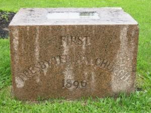 Cornerstone of First Presbyterian Church 1896