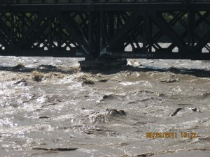 Mohawk River level after Irene.