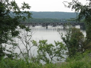 River and bridges over Mohawk, August 6, 2011