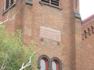 1860 Church plaque