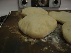 Sourdough pita bread