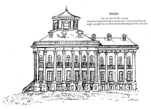 Sketch of Windsor home.