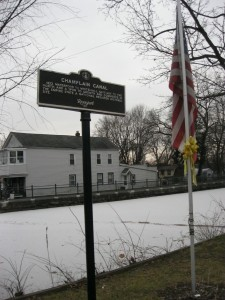Champlain Canal in Waterford, New York.