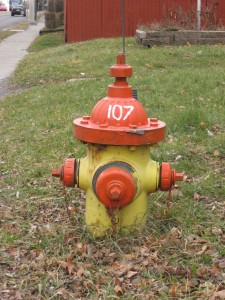 Fire hydrant 107 in Waterford, New York.