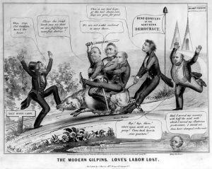 19th century political cartoon