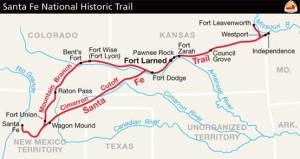 Santa Fe Trail route.