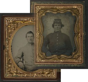 Unidentified USA and CSA soldiers