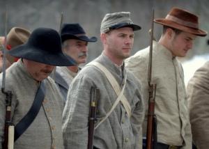 Confederate reenactors at Fort Henry, 2010.