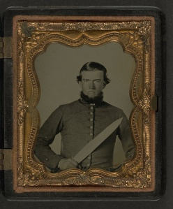 CSA soldier with Bowie knife