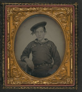 Unidentified young union sailor during Civil War