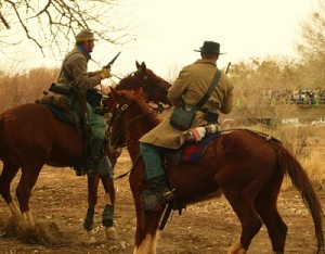 Civil War reenactment, Socorro, Feb. 2010