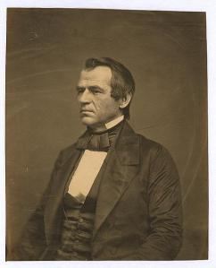 Andrew Johnson in 1860.