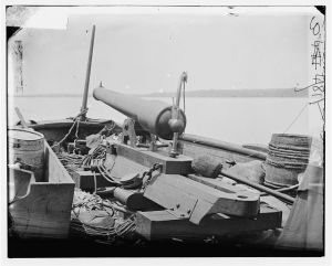Bow gun on a Confederate gun boat