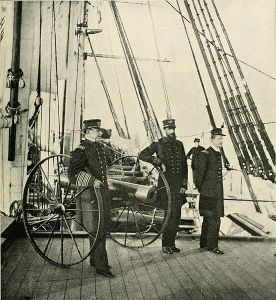 "David Farragut on the ""Hartford"""