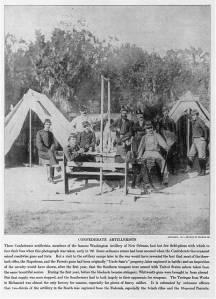 Confederate artillerymen outside New Orleans, 1862