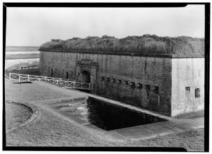 Fort Macon entrance and moat