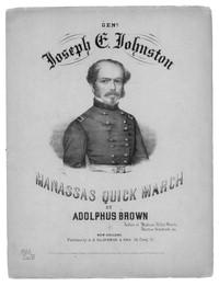 Music sheet featuring General Joseph Johnston
