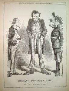 "1862 ""Punch"" cartoon: ""No money, no men."""