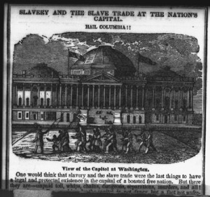Abolitionist tract from 1840s: Group of slaves in Washington, DC.