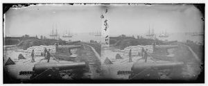 Yorktown Confederate battery in 1862