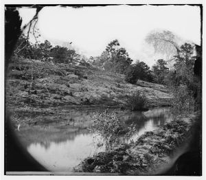 Bank of the Chickahominy River during the war