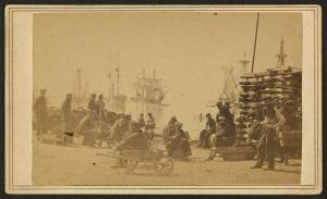 Coaling Farragut's fleet at Baton Rouge, 1862