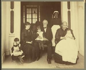 Three generations of the Davis family, late 1880s
