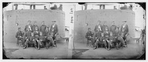 "Officers on deck of the ""Monitor"" in 1862"