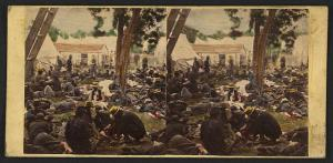Tending wounded Union soldiers during Peninsula Campaign