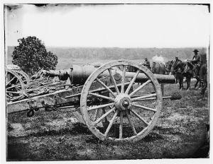 Federal battery near Richmond, June 1862