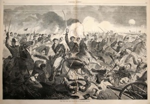 Confederate cavalry charge
