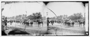 Fugitive African Americans fording the Rapahannock in summer of 1862