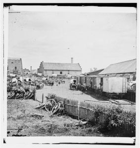 Railroad depot and yard, Culpeper Court House, VA, in the summer of 1862