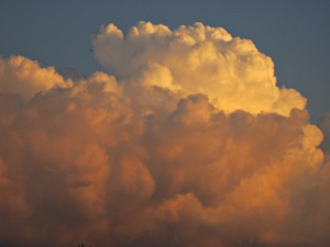 Sunset cloud in summer