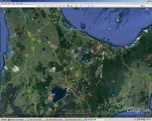 Taupo and Rotorua - Google Earth