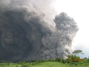 Pyroclastic flow and phoenix clouds at Fuego eruption today.