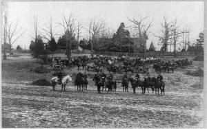 Union horse artillery during the war.