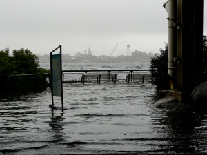 East River flooding during Irene