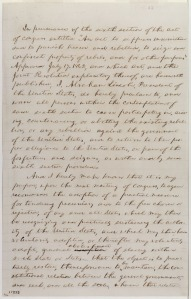 Holograph of page 2 of preliminary emancipation proclamation
