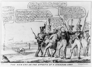 Militia cartoon from 1840