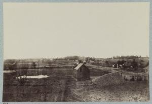 Marye's Heights and part of the Fredericksburg battlefield on December 13, 1862.  (Library of Congress)