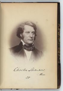Sen. Charles Sumner (D, Massachusetts) in 1859, upon his return to the Senate.  (Library of Congress)