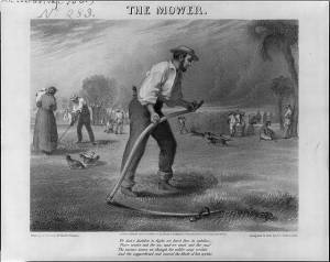 The Mower.  D. C. Fabronius, ca. 1863.  (Library of Congress)
