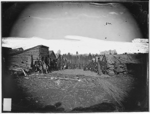 Winter quarters of an infantry unit, unknown date, location.  (Expert Infantry)