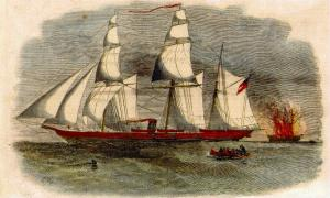 """Color version of a """"Harper's Weekly"""" print of the """"Alabama.""""  (Source)"""