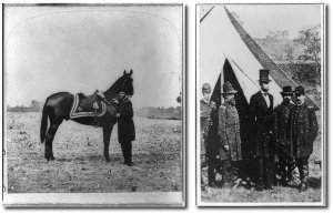 Grant was one of the few senior generals Lincoln had not yet met in March 1863.  (Images from Library of Congress)