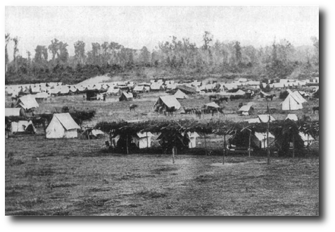 Grierson's camp at Baton Rouge, undated.  (Source 14, page 65)