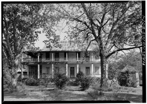 Laurel Hill plantation house in Rodney, Mississippi, as it appeared in 1972.